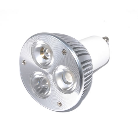 EPISTAR Powerled GU10 3x2W Power LED Spot 6 watt Warmwit 45 graden