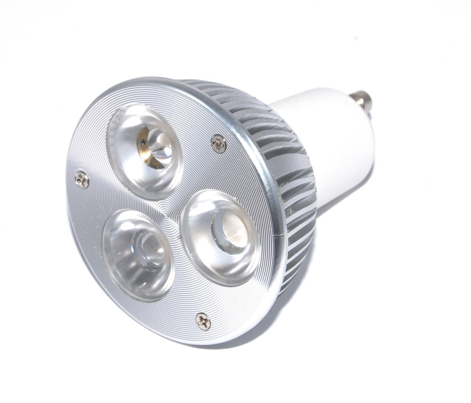 gu10 powerled cree 3x2w power led spot 6 watt warm wit 45 graden powerled verlichting. Black Bedroom Furniture Sets. Home Design Ideas