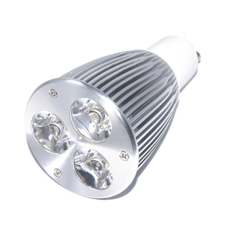 GU10 Powerled 3x3W Power LED Spot 9 watt Warm wit 45 graden