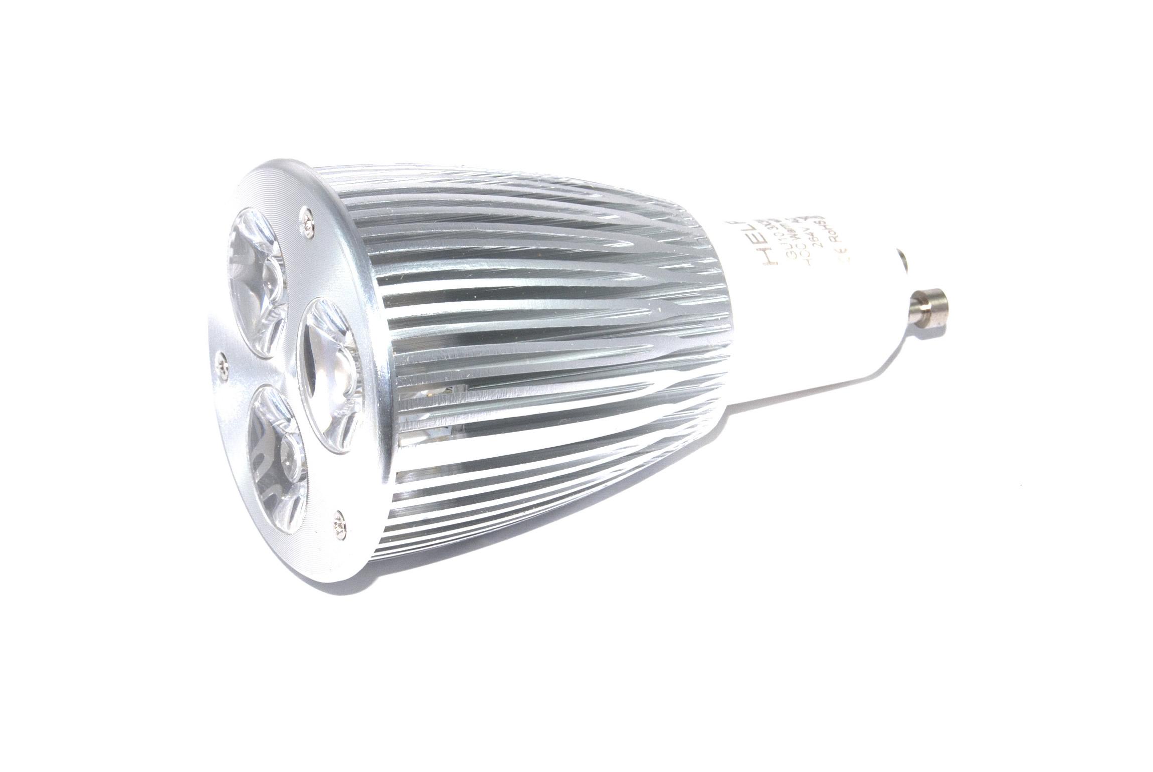 gu10 powerled 3x3w power led spot 9 watt warm wit 45 graden powerled verlichting. Black Bedroom Furniture Sets. Home Design Ideas