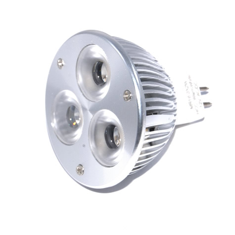 MR16 Powerled GU5.3 Dimbaar 3x2W Power LED Spot 6 watt Warm wit